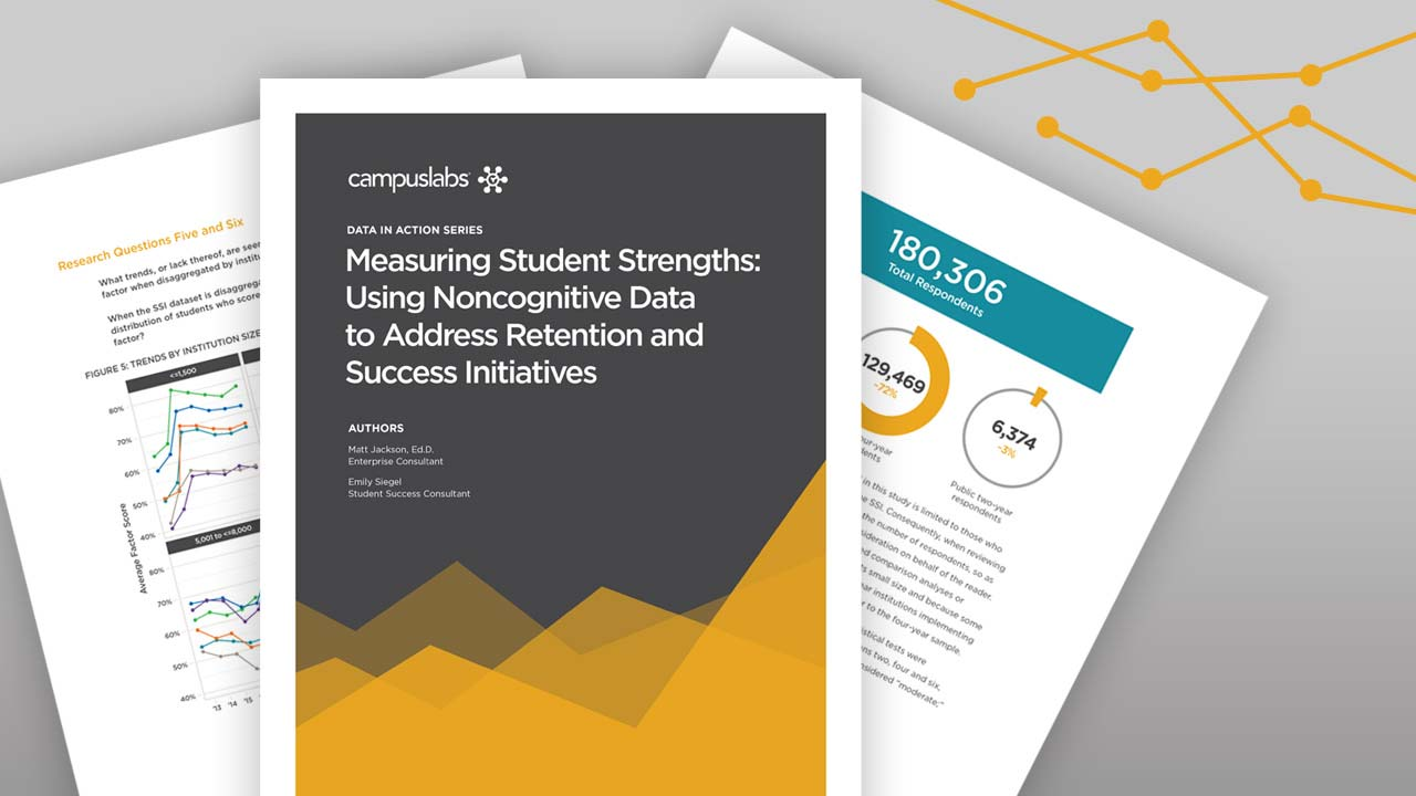 Measuring Student Strengths: Using Noncognitive Data to Address Retention and Success Initiatives
