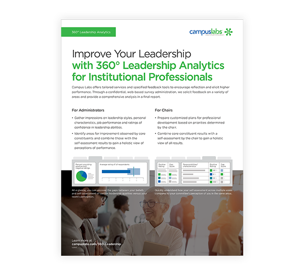 360° Leadership Analytics Flyer PDF